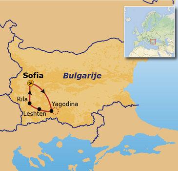 routekaartje Rondreis Bulgarije