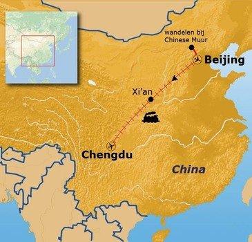 routekaartje Rondreis China Winter Pop-Up