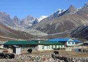 foto Lodges tijdens trektocht Everest Gebied