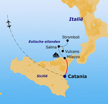 routekaartje Rondreis Italië Pop-Up