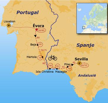 Fietsvakantie van Évora naar Sevilla