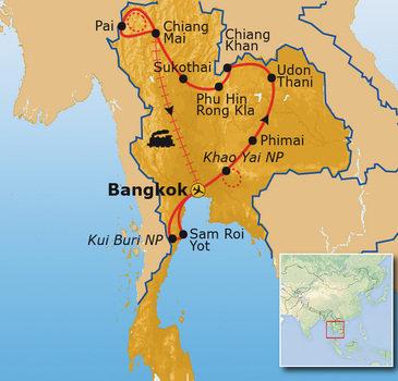 Thailand Jubileum reis, 24 dagen