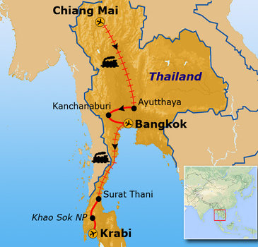 Route Thailand november - april / Krabi