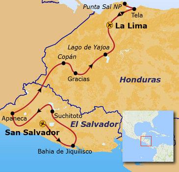 Route El Salvador en Honduras, 18 dagen