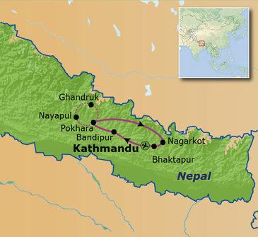 Route Nepal Familiereis 15 dagen, 2019