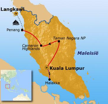 Route Maleisië Hoogtepunten 16 dagen
