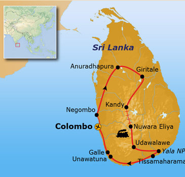 Route Sri Lanka, 16 dagen - Unawatuna