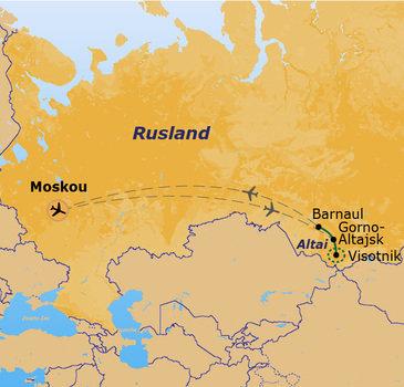 Route Rusland - Altai-gebergte