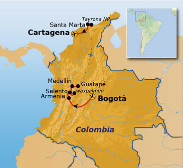 Route Colombia, 14 dagen