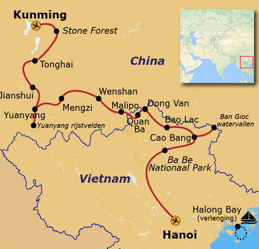 Route China & Vietnam, 20 dagen
