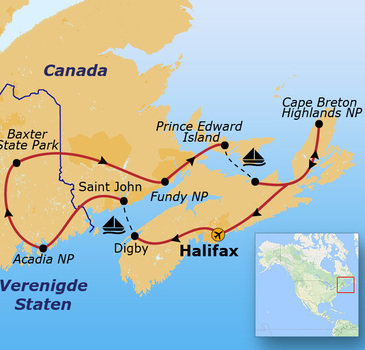 Route Nova Scotia & New-England, 15 dagen