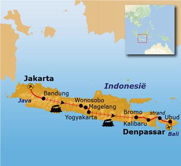 Route Java en Bali, 21 dagen