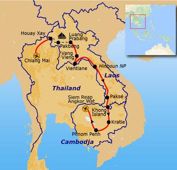 Route Laos & Cambodja, 23 dagen