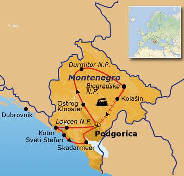 Route Montenegro, 10 dagen