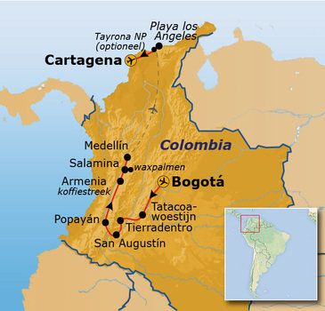 Route Colombia, 21 dagen