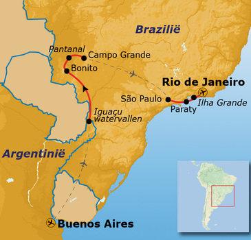 Route Brazilië en Buenos Aires, 21 dagen