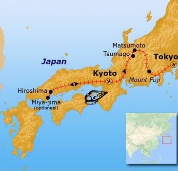 Route Japan 14 dagen 2019