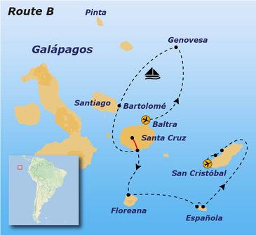Route B Galapagoseilanden, 12 dagen