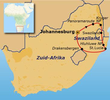 Route Zuid-Afrika, 15 dagen