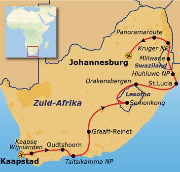 Zuid-Afrika, Swaziland & Lesotho, 22 dagen