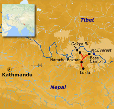 Route Nepal Everest Base Camp, 24 dagen