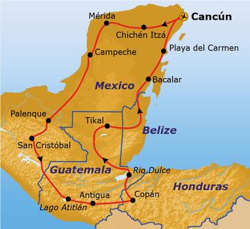 Route Ruta Maya reis, 23 dagen, vanaf 2019