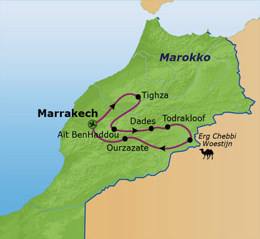 Route Marokko Familiereis 2019, 9 dagen