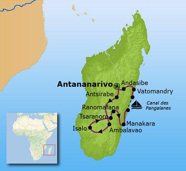 Route Madagascar, 19 dagen