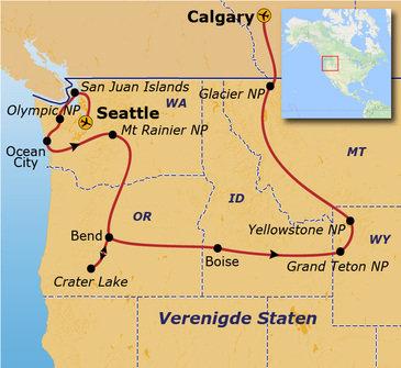 Route Verenigde Staten Noordwest - 23 dagen