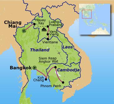Route Thailand, Laos en Cambodja, 22 dagen