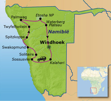 Route Namibië Selfdrive (20 dagen)