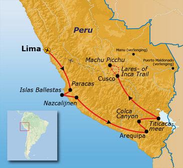 Route Peru 2019, 22 dagen