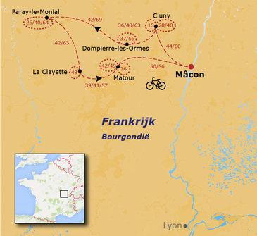 Fietsvakantie Bourgondië - 15 dagen