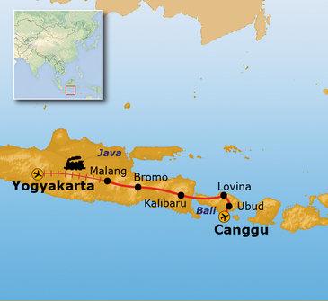 Route Java en Bali, 15 dagen