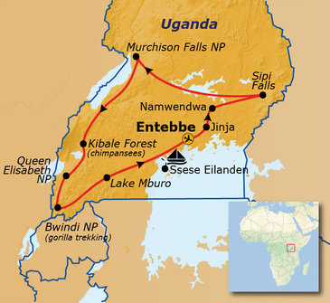 Route Uganda 2019, 21 dagen