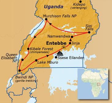 Route Uganda, 21 dagen