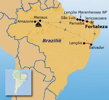 Route Brazilië 2019, 23 dagen