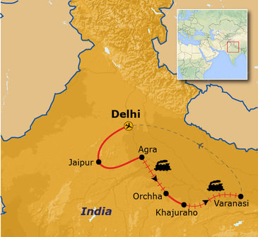 Route Noord India, 14 dagen