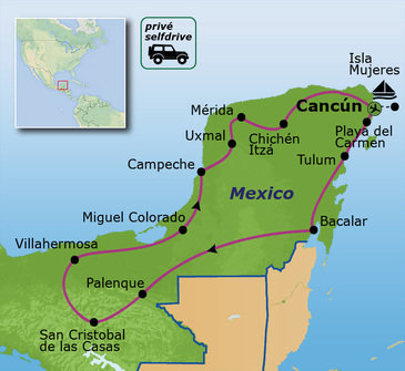 Route Mexico, 21 dagen, 2019