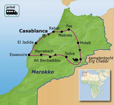 Route Marokko, 15 dagen. Vanaf 2019