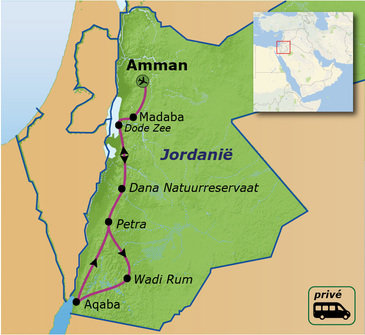 Route Jordanië, 9 dagen