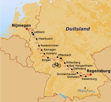 Fietsvakantie Langs de Limes naar Regensburg
