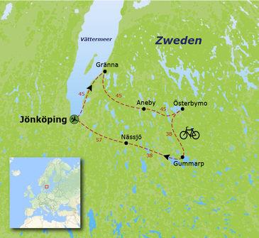 Fietsvakantie Zweden - 15 dagen
