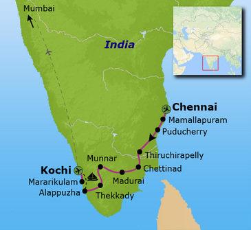 Route Zuid India, 19 dagen