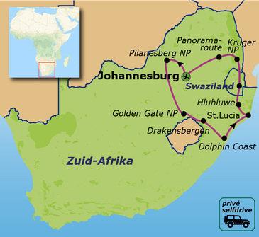 Route Zuid-Afrika Privé Selfdrive, 20 dagen