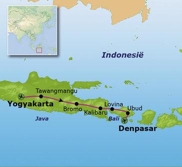 Route Java en Bali, 22 dagen (nieuw)