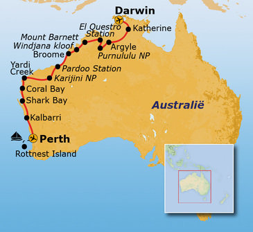 Route West Australië, 25 dagen