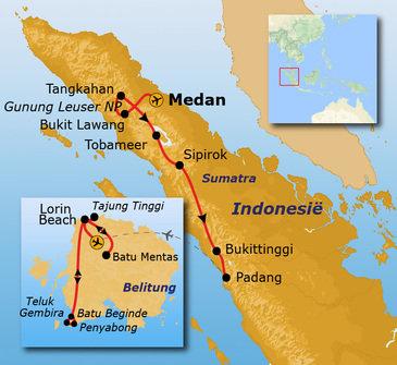 Route Sumatra & Belitung, 17 dagen