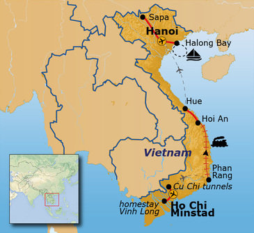 Route Vietnam, Ho Chi Minhstad - Hanoi