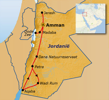 Route Jordanië, 12 dagen